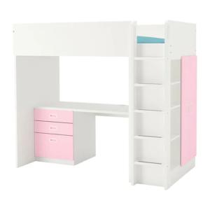 IKEA・STUVA ストゥヴァ / FRITIDS フリーティズ ロフトベッドフレーム デスク&収納付き