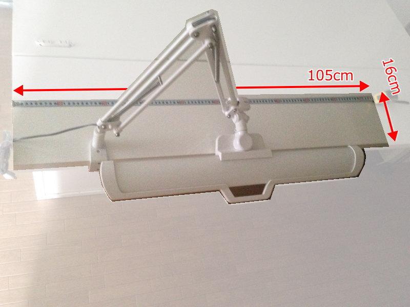 ミッケの追加ユニット高(上棚)にECL-357を取り付けた場合のシミュレーション(上から見た状態)