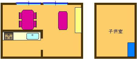 2. LDのテーブルで学習し、子供部屋の棚などに収納
