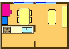 5. LDのデスクで学習し、その横の棚などに収納
