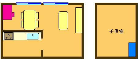 6. LDのデスクで学習し、子供部屋の棚などに収納
