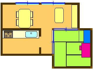 8. LD近くの部屋のデスクで学習し、横の棚などに収納