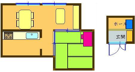 9. LD近くの部屋のデスクで学習し、玄関の棚などに収納