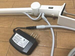 BenQ・WiT MindDuo親子デスクライトの電源コードとACアダプター