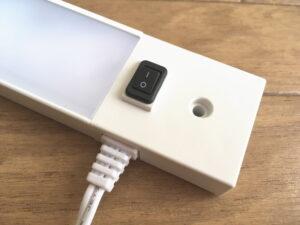 山田照明の新商品・棚下灯「ZM-015」スイッチ