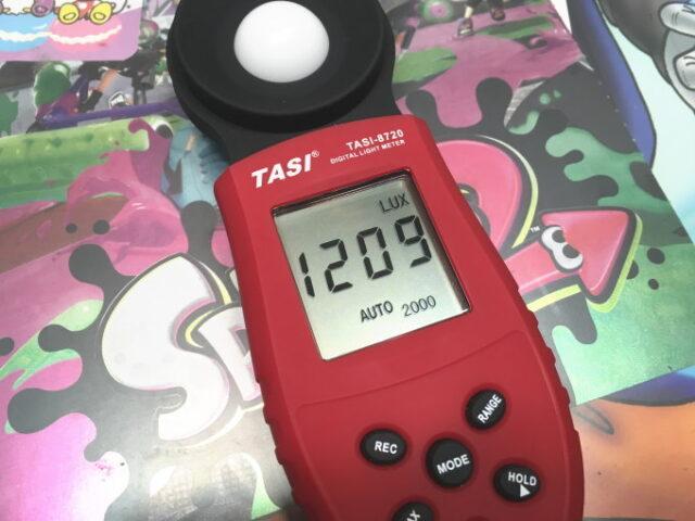 簡易照度計で測定