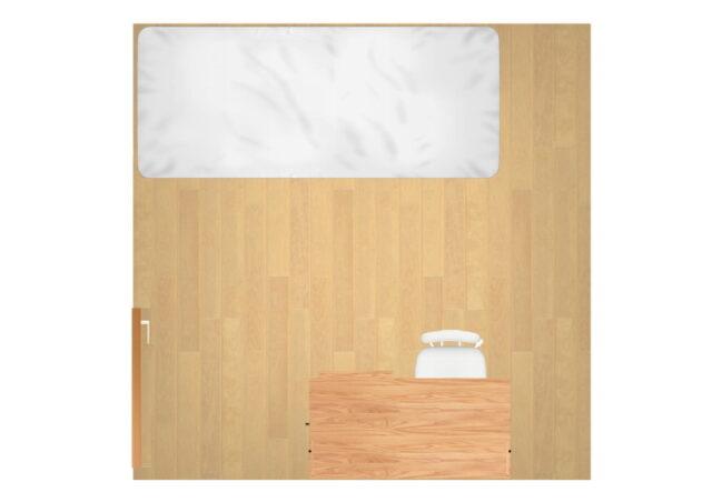 家具レイアウトの基本はII型⇒ベッドの反対側にデスクを配置