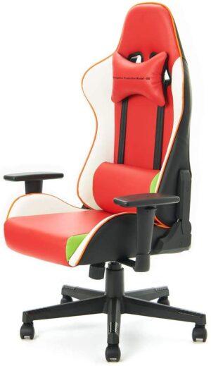イトーキ×エヴァンゲリオンチェア オフィスチェア ゲーミングチェア 可動肘付 2号機モデル EVA-02-ES