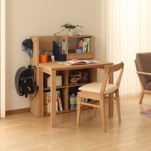 カリモク家具・ユーティリティプラス デスク:SS3955ME/マルチシェルフ:QS3587ME