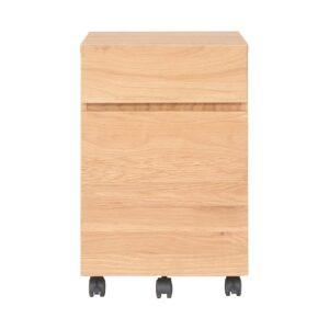 無印良品・木製デスクキャビネット・オーク材
