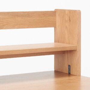 無印良品・木製デスク用上置き棚・オーク材 はクランプ式デスクライト取付可能(一部除く)