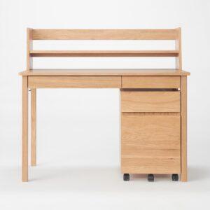 無印良品・木製デスク・オーク材3点セット