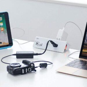 サンワサプライ・USB充電ポート付き便利タップTAP-B105U-3W