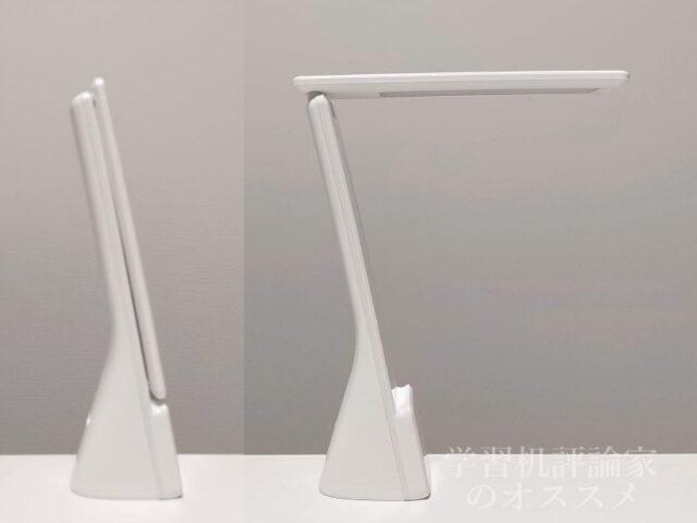 ニトリ・USB充電式ポータブル LEDデスクライト「DX-SX20WH」はデザインも十分に美しい