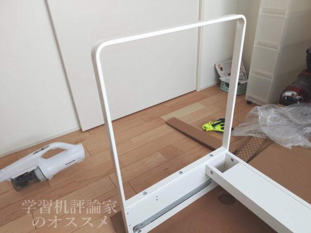 IKEA・MICKE(ミッケ)デスクは脚金具の取付けが最難関